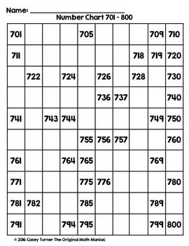 100 number chart puzzles pdf