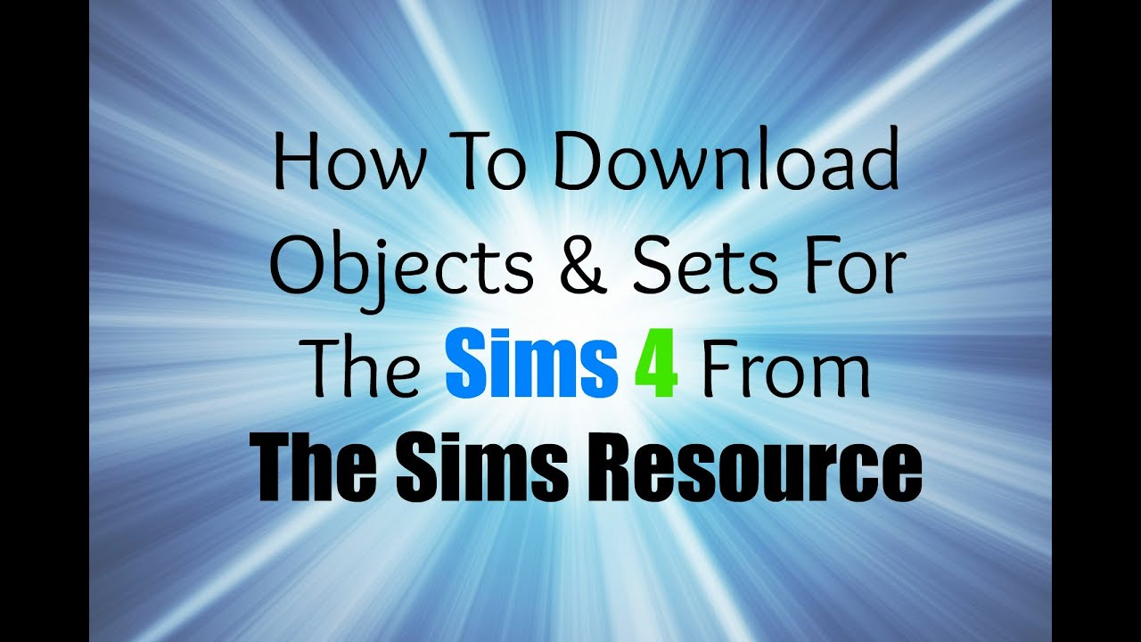 The sims resource sims 4 how to download