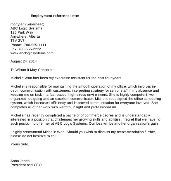 Work recommendation letter sample pdf