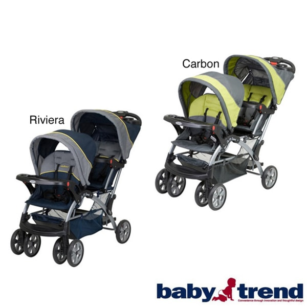 Sit n stand double stroller manual