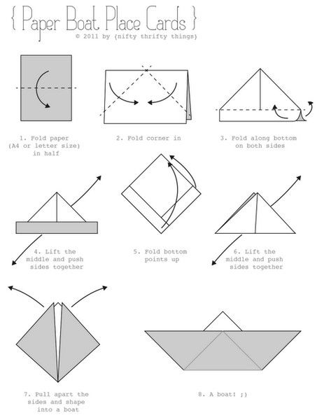 how to make a paper boat instructions