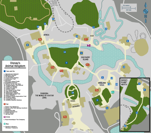 Disney animal kingdom time guide map