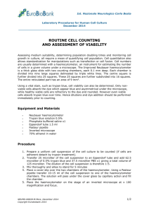 manual body fluid cell count procedure