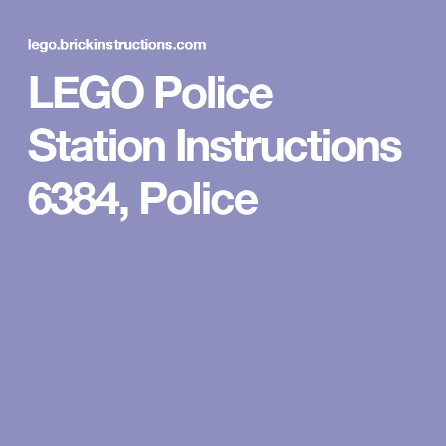 lego police station instructions 6384