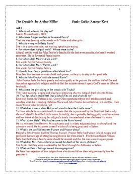 The crucible study guide questions pdf